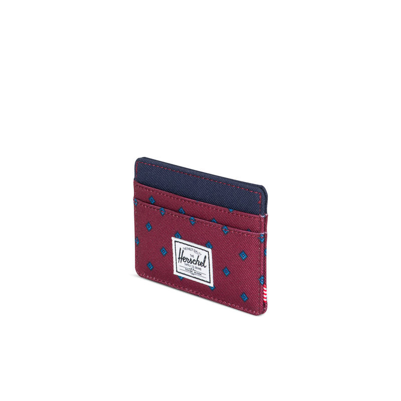 Herschel Supply Charlie RFID University Windsor Wine/Peacoat