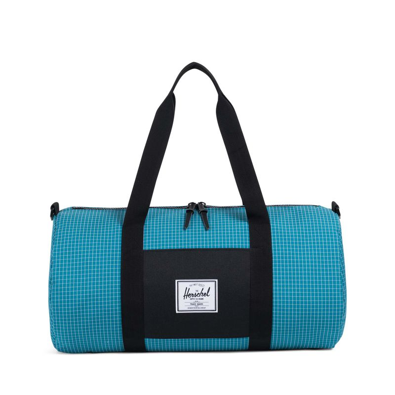 Herschel Supply Sutton Mid-Volume Ocean Depths Grid/Black