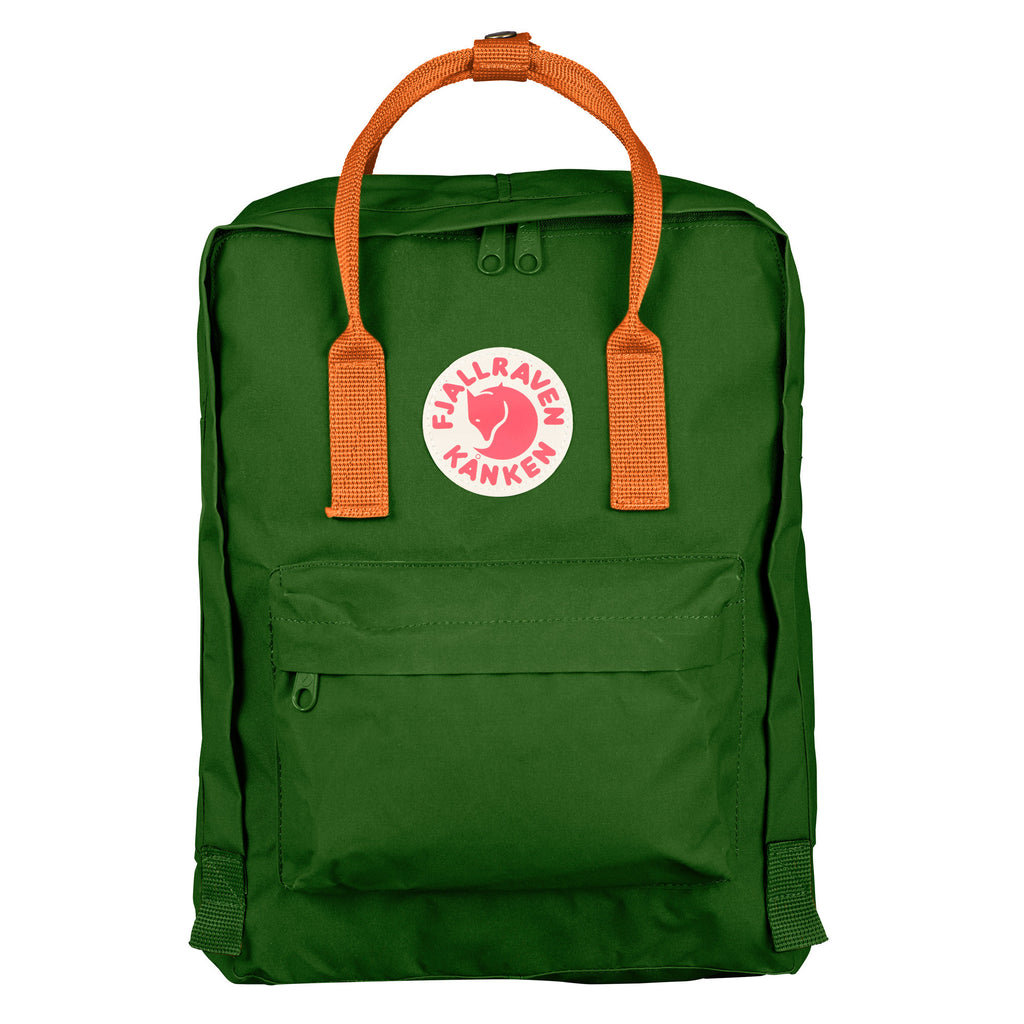 Kanken Classic Leaf Green Burnt Orange