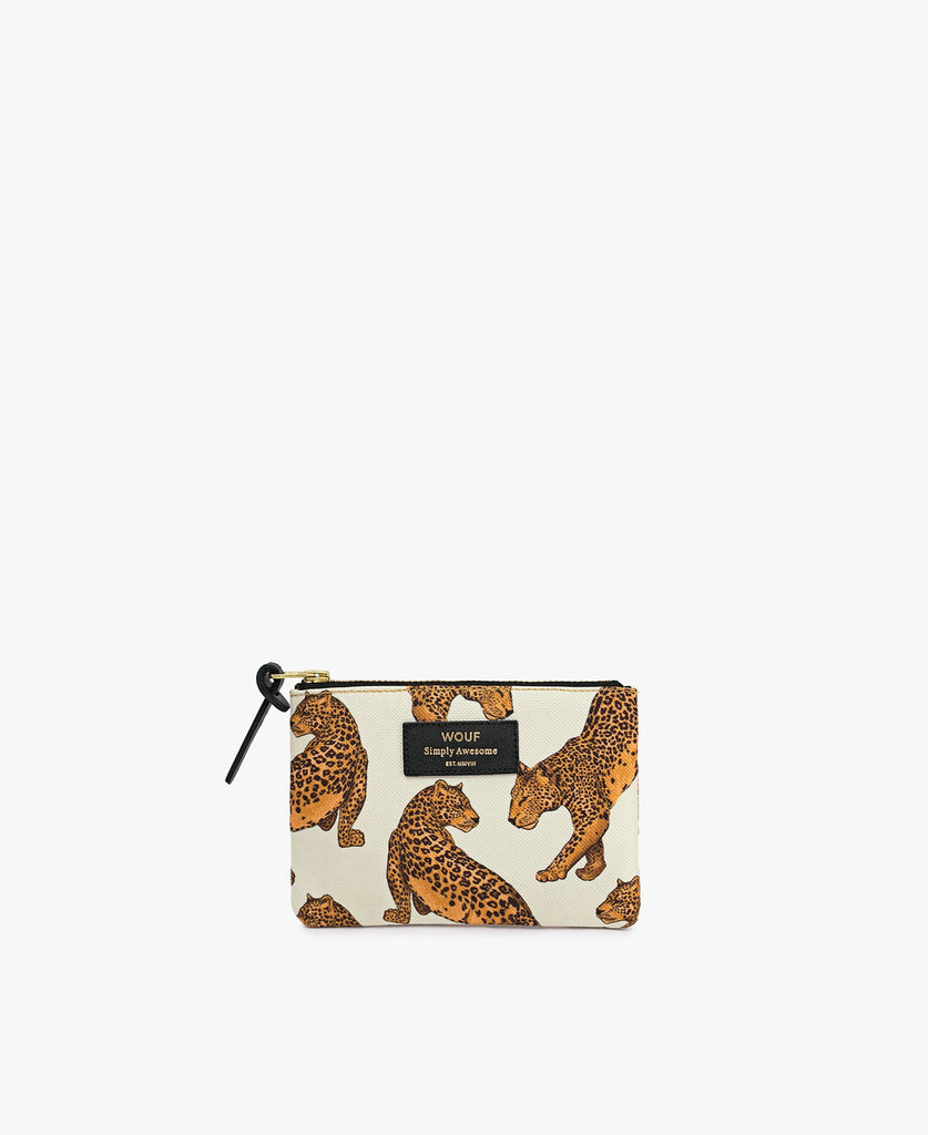 Wouf SMALL POUCH White Leopard Cüzdan