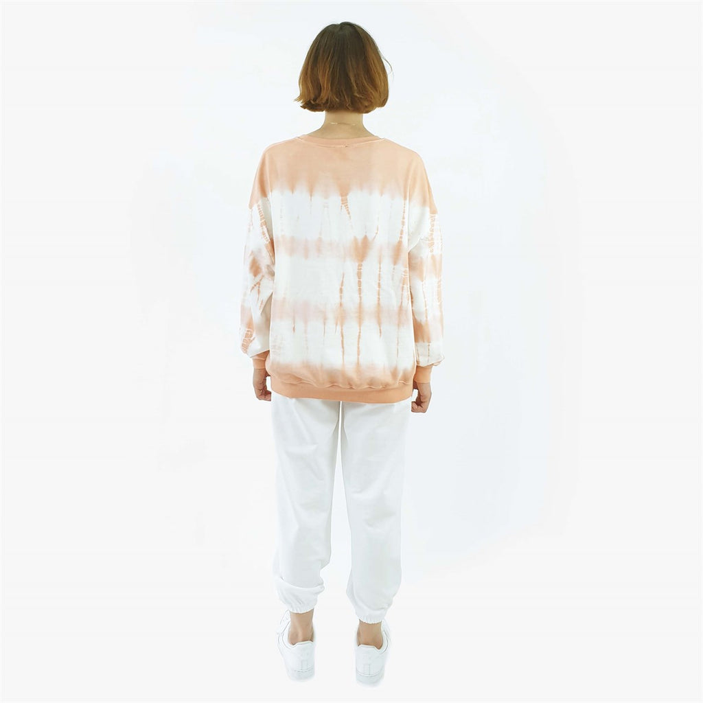 fifty pieces oversize sweat şeftali batik