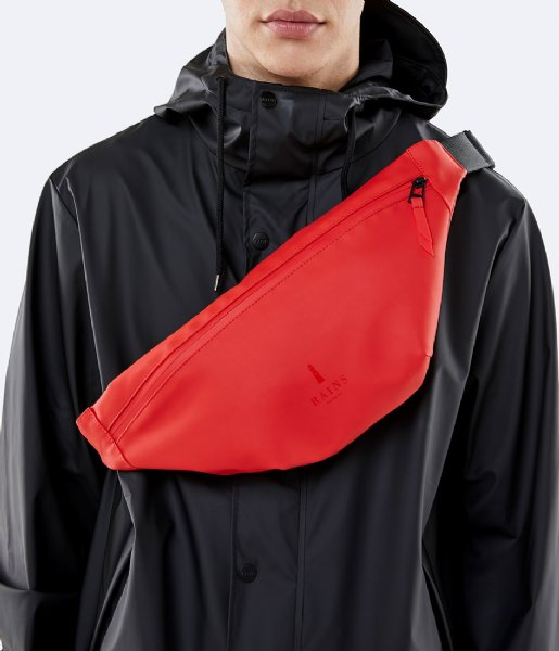 RAINS Bum Bag Red Bel Çantası