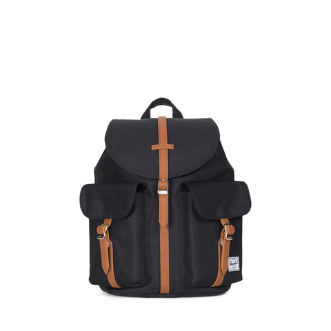 Herschel Supply City Mid-Volume Black/Tan Synthetic Leather