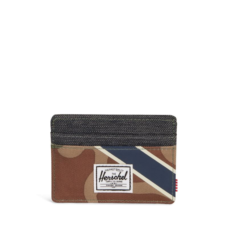 Herschel Supply Charlie RFID Woodland Camo/Silver Green/Dark Denim