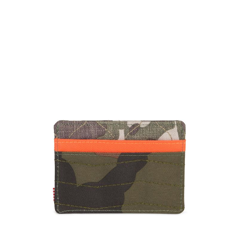 Herschel Supply Charlie RFID Woodland Camo/Vermillion Orange/Frog Camo Kartlık