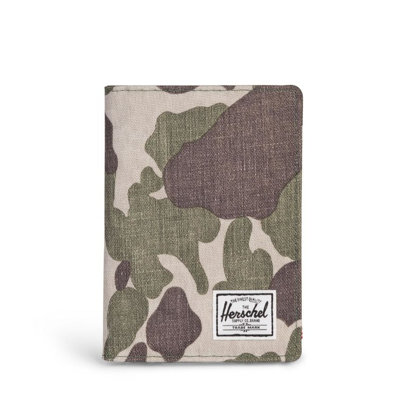 Herschel Supply Raynor Passport Holder RFID Frog Camo