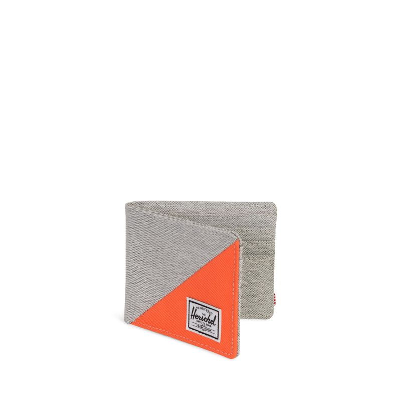 Herschel Supply Roy RFID Light Grey Crosshatch/Vermillion Orange