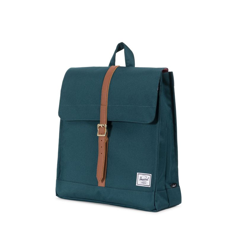 Herschel Supply City Mid-Volume Deep Teal/Tan Synthetic Leather
