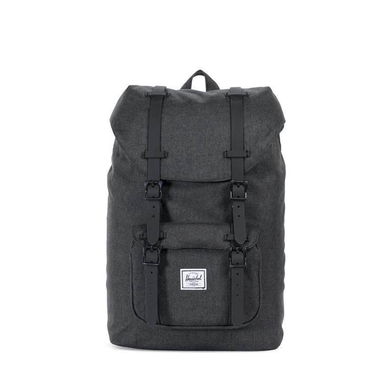 Herschel Supply Little America Mid-Volume Black Crosshatch/Black