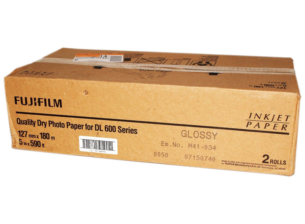 "Fuji 5x180m Glossy - Dry Lab Photo Paper DL600 ""NEW"""