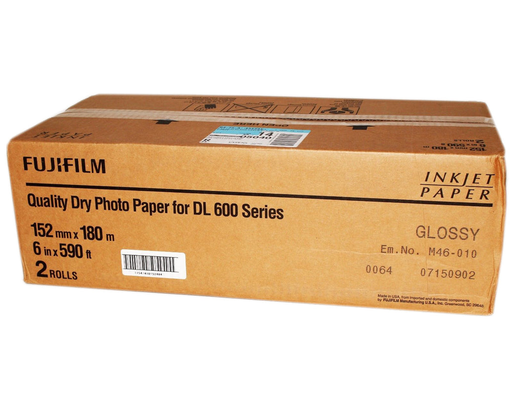 "Fuji 6x180m Glossy - Dry Minilab Photo Paper DL600 ""NEW"""