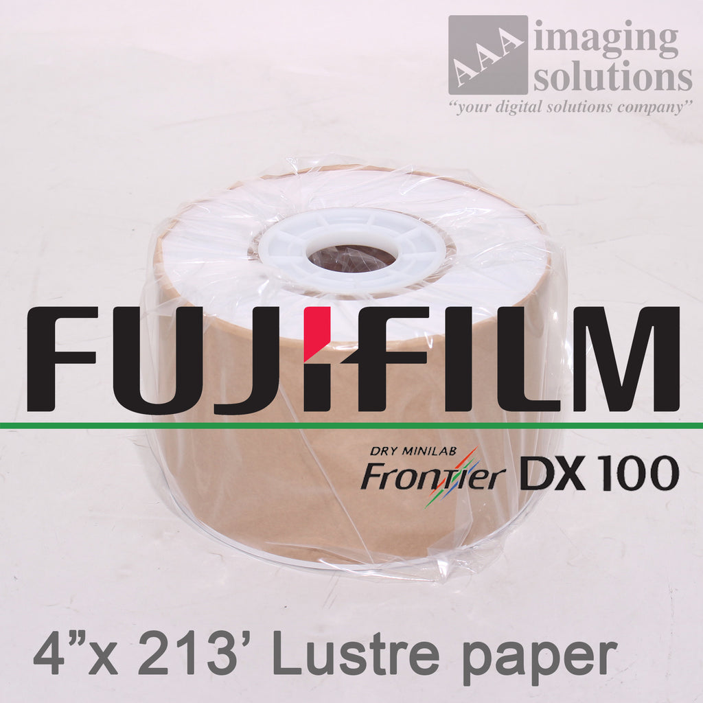 "Fujifilm Frontier-S DX100 Lustre, 4"" x 213' Quality Dry Photo Paper - 2 ROLLS"