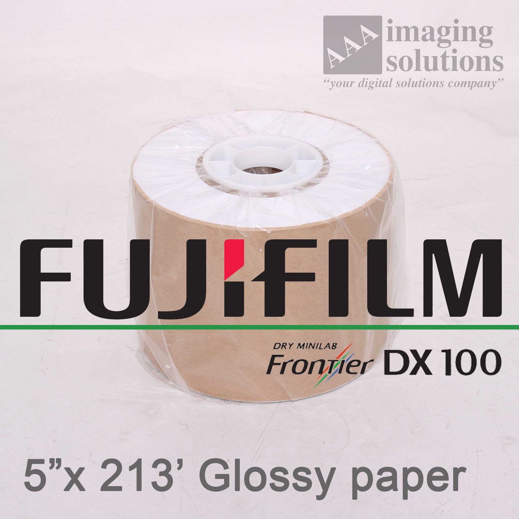 "Fujifilm Frontier-S DX100 Glossy, 5"" x 213' Quality Dry Photo Paper - 2 ROLLS"