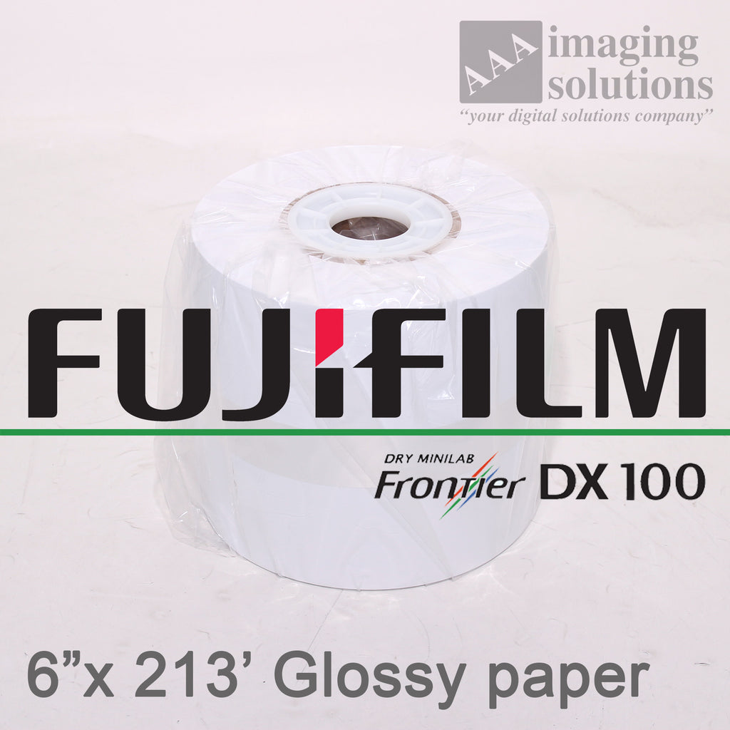 "Fujifilm Frontier-S DX100 Glossy, 6"" x 213' Quality Dry Photo Paper - 2 ROLLS"