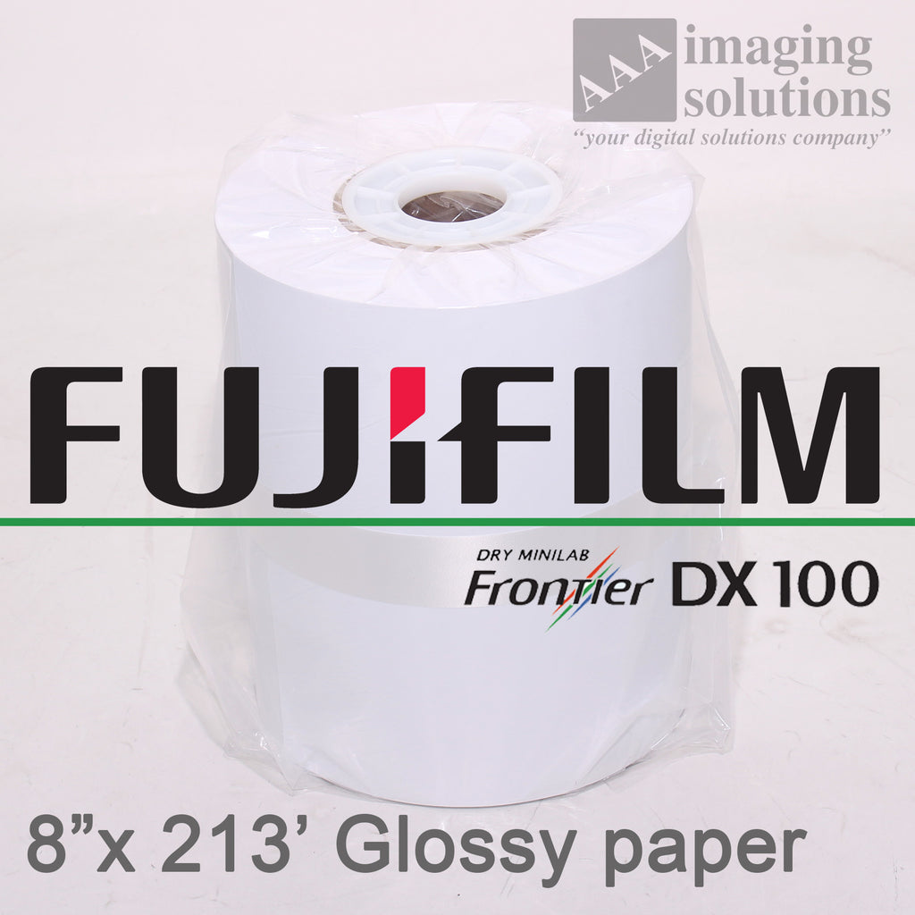 "Fujifilm Frontier-S DX100 Glossy, 8"" x 213' Quality Dry Photo Paper - 2 ROLLS"