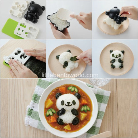 Cetakan Panda Set Mold Rice Bread Cookies Dapur Kitchen - Pasarpas.com