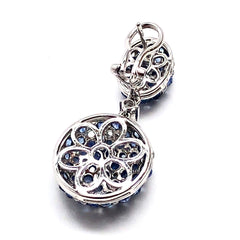 Double Dome Drop 18K White Gold Earring