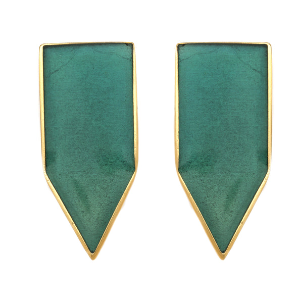 Flag Gold Earring