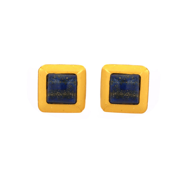 Earring - Crush Square - Blue Lapis