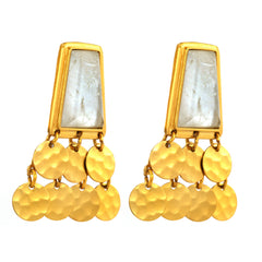 Earring - Nobility - Silver-Backed Quartz