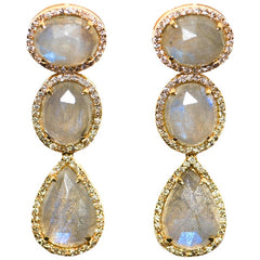 Droplet Trio 14K Yellow Gold Earring