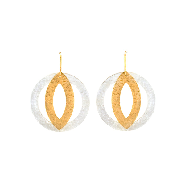 Paris Circle Eye EA Gold, Silver