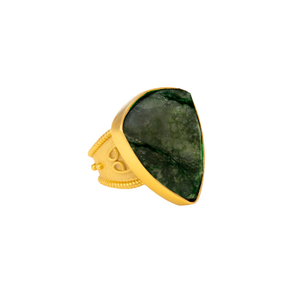 Ring - Trillion Too - Faceted Labradorite