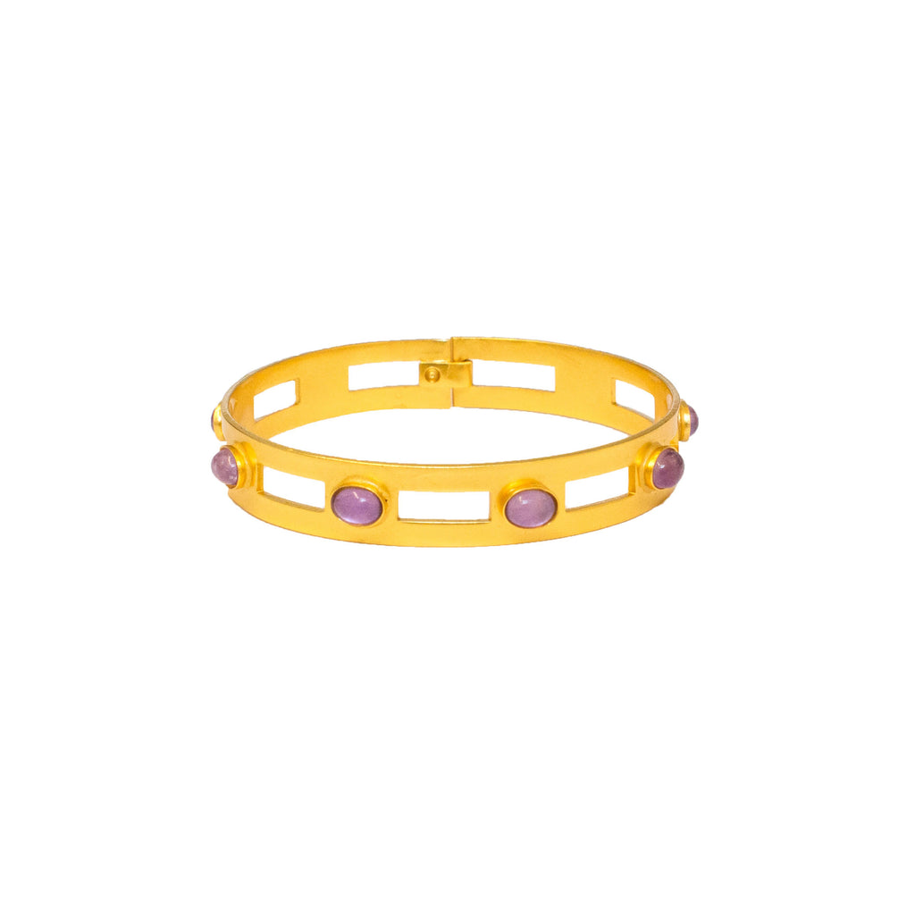 Monaco Small Bangle In Light Amethyst Oval