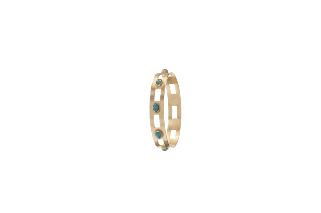 Monaco Medium Bangle In Turquoise Oval