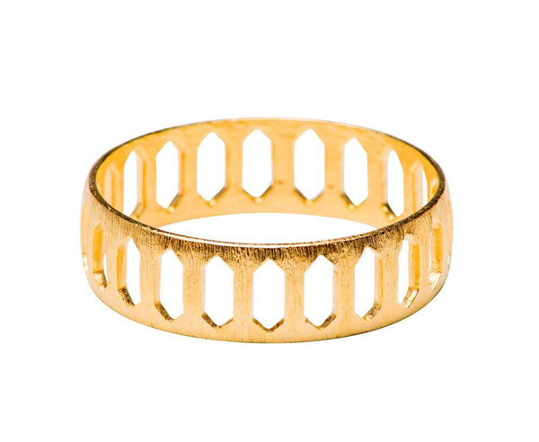 GOLD ARMOR BANGLE