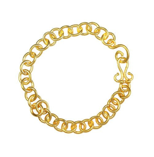 TUDOR BRACELET - 24K GOLD - 8 IN.