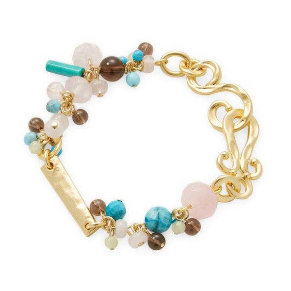 CHARMED GOLD BEADED BRACELET