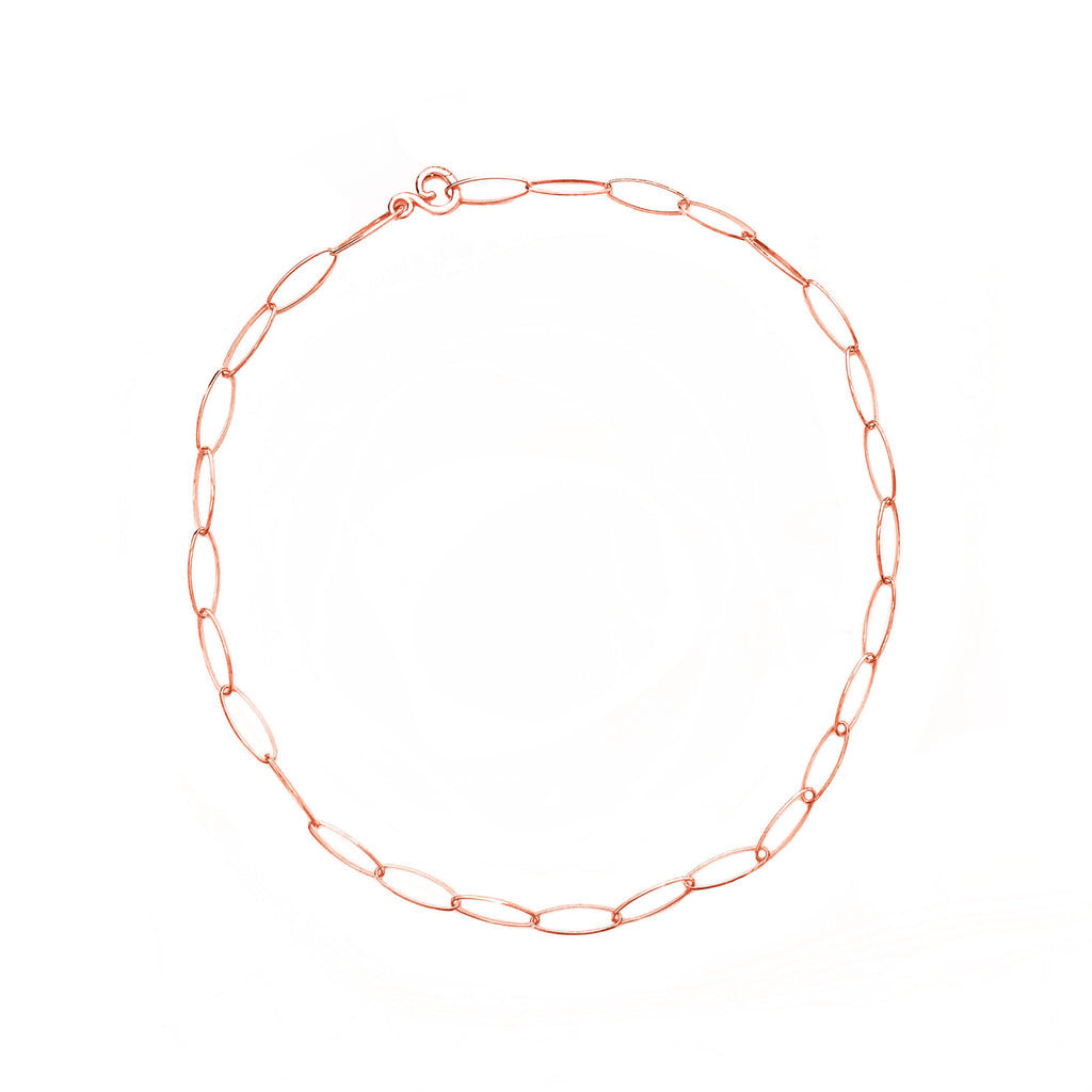 Lace 18K Rose Gold Necklace - 36 in.
