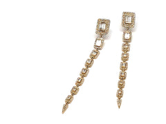 Shooting Star 14K Yellow Gold Earring