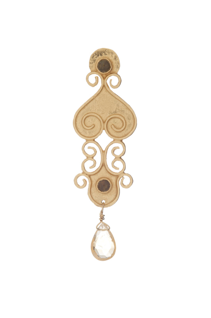 Antiquity Long Earring In Citrine