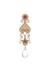 Antiquity Long Earring In Pink Tourmaline and White Quartz Briolet