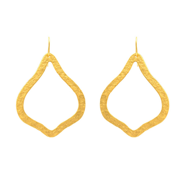 PARIS SINGLE ORNAMENT GOLD EARRING