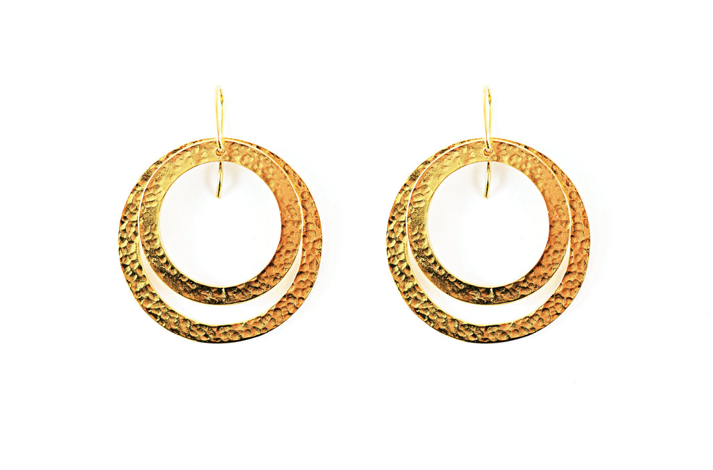 Paris Double Round Medium and Round Small Earring