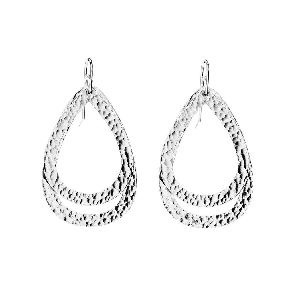 Paris Double DM and DS In Silver Earrings