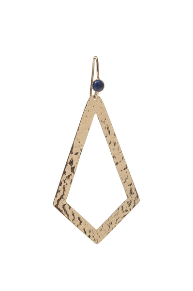 Paris Single Triangle Earring In Blue Quartz