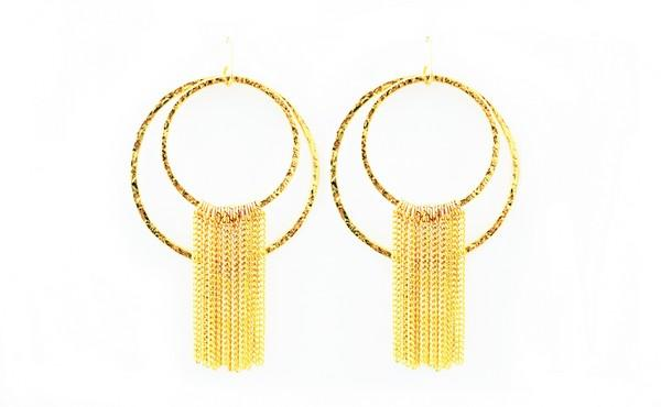 Ringling Earring with Chain