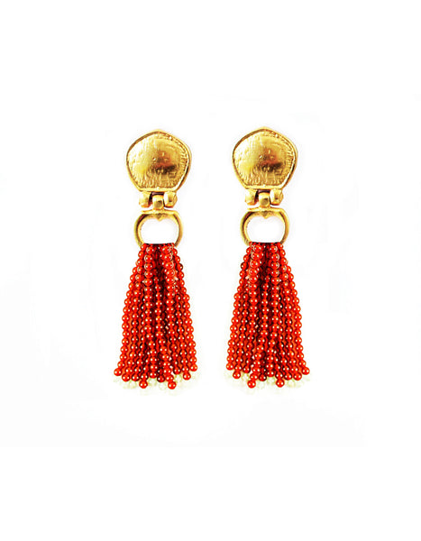 Cleo Bead Earring In Carnelian