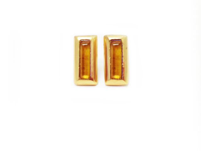 Crush Rectangle Earring In Yellow Citrine