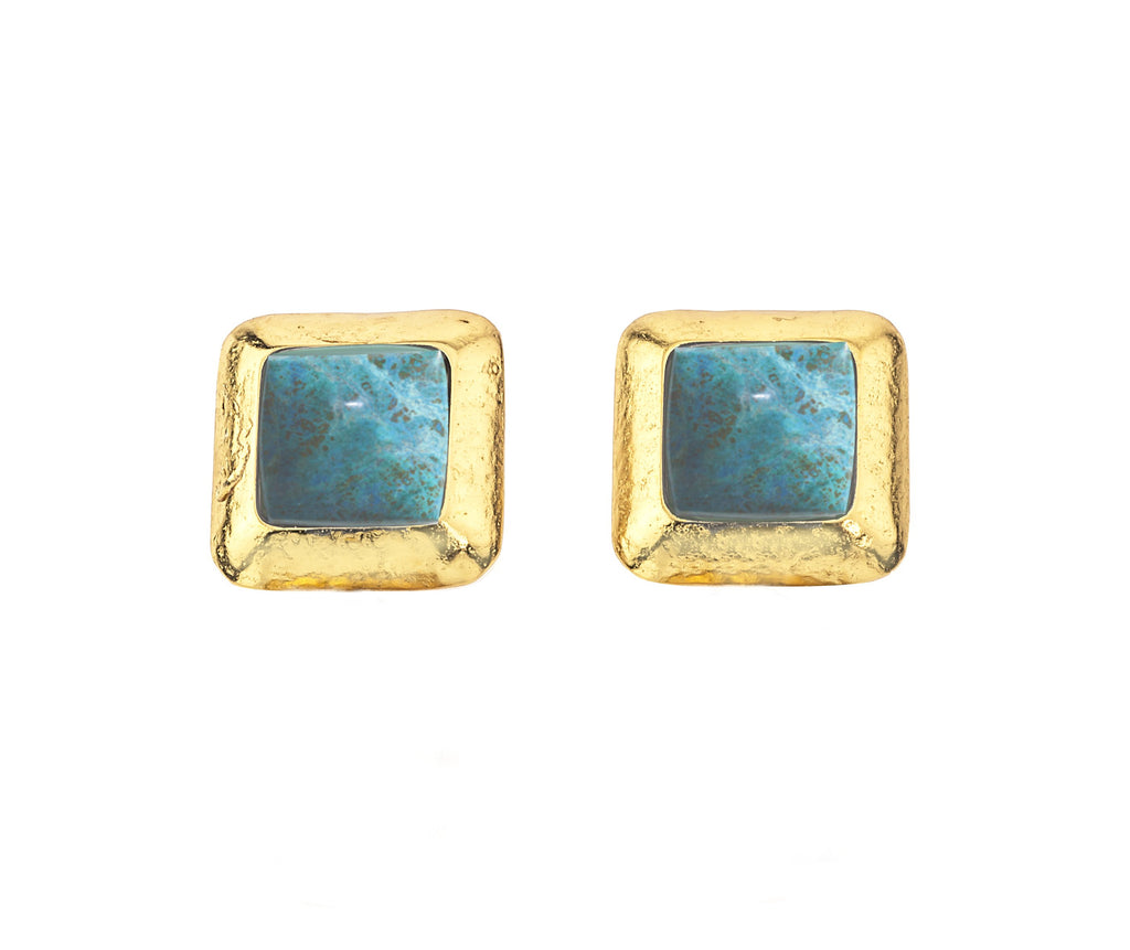 Crush Square Earring In Turquoise
