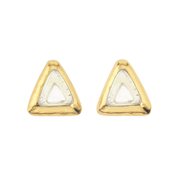 Crush Triangle Earring In White Quartz