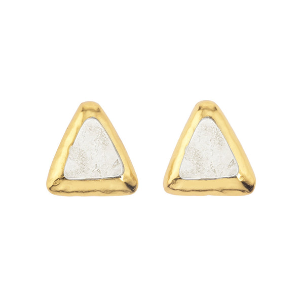 Crush Triangle Earring In Travertine