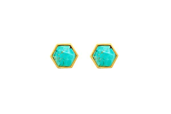 Chantilly Stone Earring In Turquoise
