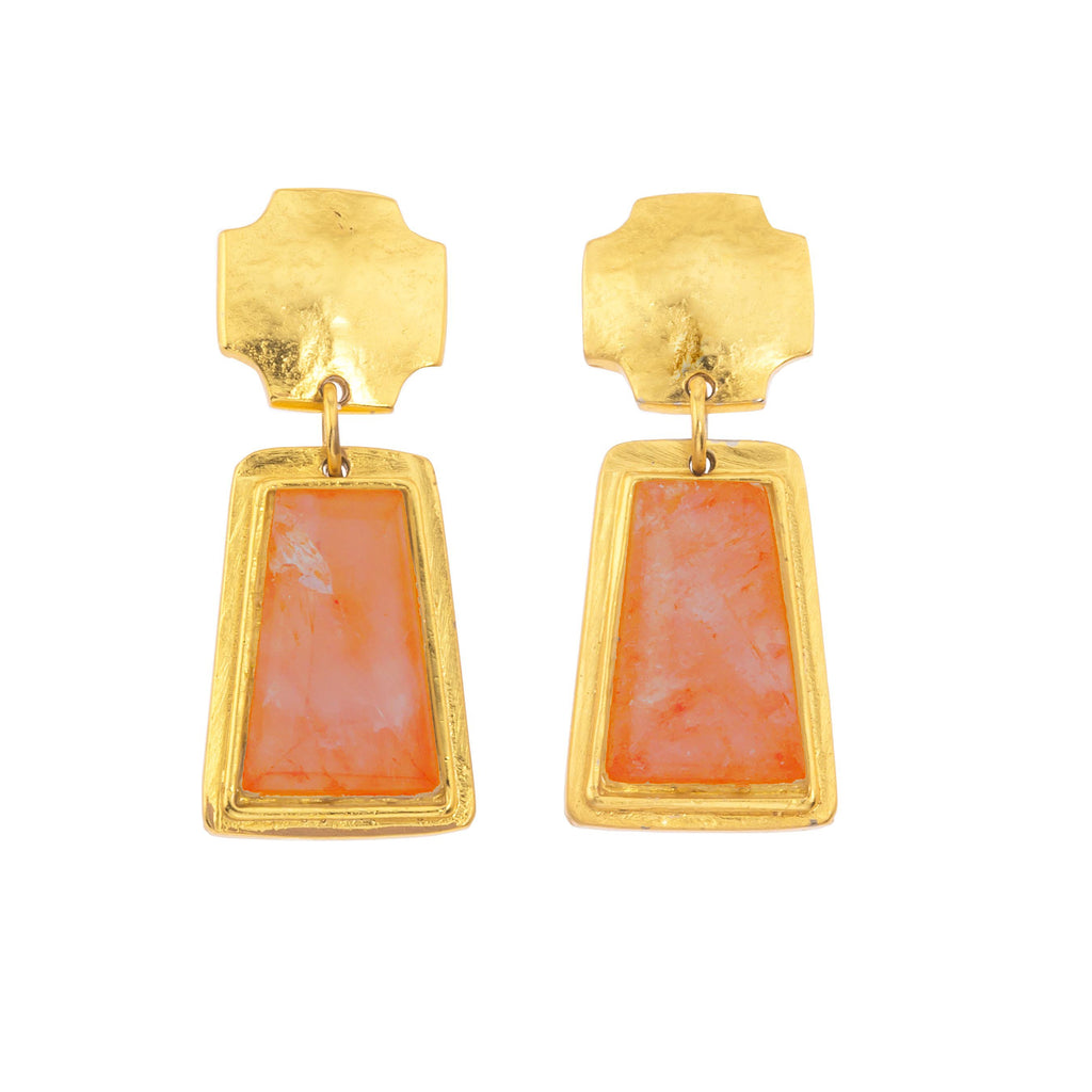 Russet Trap Earring In Carnelian