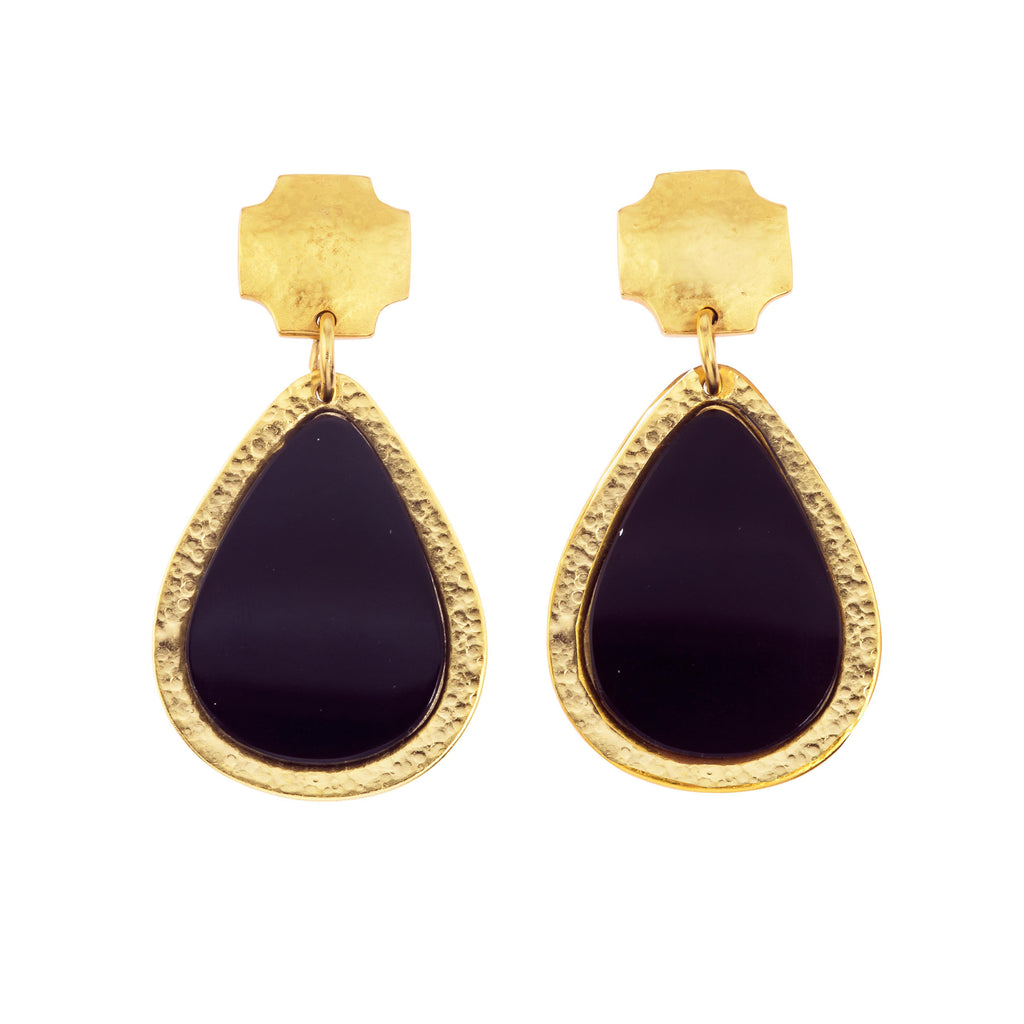 Russet Drop Earring In Black Onyx