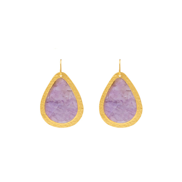 Russet Drop Earring In Light Amethyst